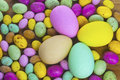 Large small easter eggs Stock Photography