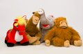 Large soft toys photo of toy animals photographed on a white background Royalty Free Stock Photography