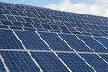 Large Solar energy array for clean electricity production Royalty Free Stock Photo