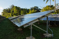 Large solar power installation in tropics industrial panels hot tropical environment Stock Image