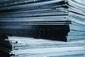 Large stack of magazines Royalty Free Stock Photo