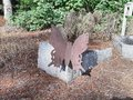 Large Standing Metal Butterfly the park.