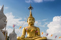 Large statues of buddha on clouds and sky Royalty Free Stock Photos