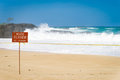 Large surf on Oahu's north shore at Haleiwa, Hawaii Royalty Free Stock Photo