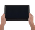 Large Tablet Computer With Blank Screen held Stock Images