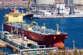 Large tankers unloading crude oil a Royalty Free Stock Image