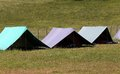 Large tents to sleep during the summer camp of the boyscout Royalty Free Stock Photo