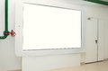 Large touchpad on the wall for display advertising Royalty Free Stock Photo