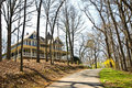 Large Victorian House / Spring Stock Photo