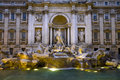 Large view of the trevi fountain in rome italy Royalty Free Stock Photography
