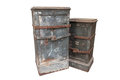 Large vintage safe, strong box. Royalty Free Stock Photo