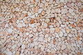 Large wall of brown and pink colored stones Royalty Free Stock Photo