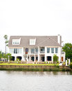 Large Waterfront Home Royalty Free Stock Photo