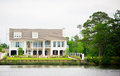 Large Waterfront Luxury Home Royalty Free Stock Photo