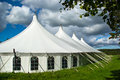 Large white party tent Royalty Free Stock Photo