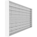 Large white shelves d render isolated on background Stock Image