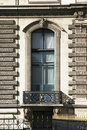 Large Window, Building Facade In Paris, France Stock Photo