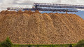 Large wood chip processing facility Royalty Free Stock Photo