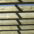 Large wooden beams and blue sky Royalty Free Stock Photography