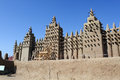 Largest mud mosque djenne great of mali western africa Royalty Free Stock Photos