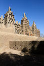 Largest mud mosque djenne great of mali western africa Royalty Free Stock Images