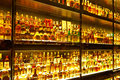 The largest Scotch Whisky collection in the world Royalty Free Stock Photo