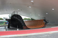 Largest skate park half pipe public track in the world Royalty Free Stock Photo