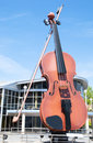 The largest violin public art as in world situated in little town sidney nova scotia canada Royalty Free Stock Photos