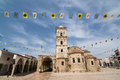 LARNACA, CYPRUS - MAY 2016: The old church of Saint Lazarus Royalty Free Stock Photo