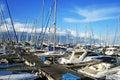 Larnaca port Royalty Free Stock Photo