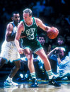 Larry bird boston celtics legend and hall of famer image taken from color slide Stock Photography