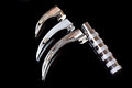 Laryngoscope handle with macintosh blades isolated on black Royalty Free Stock Photography