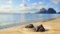Las Cabanas beach. El Nido, Philippines Royalty Free Stock Photo