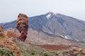 Las Canadas del Teide volcano and Garcia Roques, Tenerife, Spain Royalty Free Stock Photo