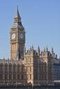 Las casas del parlamento y de Big Ben Imagen de archivo