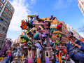 Las fallas papermache models displayed traditional celebration praise st joseph march valencia spain Royalty Free Stock Images