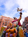 Las fallas papermache models displayed traditional celebration praise st joseph march valencia spain Stock Image