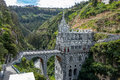 Las Lajas Sanctuary - Ipiales, Colombia Royalty Free Stock Photo
