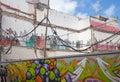 Las plamas de gran canaria grafitti at construction place Stock Image