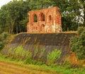 Las ruinas de la iglesia en trzesacz Fotos de archivo