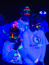 Las Vegas Blacklight Run Royalty Free Stock Photo