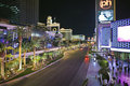 Las Vegas Blvd Night Stock Photography