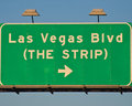 Las Vegas Blvd Sign Stock Image