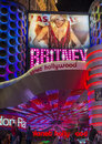 Las vegas britney spears oct o the show poster at planet hollywood resort on october in has a two year contract Royalty Free Stock Photos