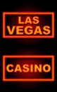 Las vegas casino neon black background and text in sign over Royalty Free Stock Photos