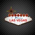 Las Vegas Casino Sign background Royalty Free Stock Photo