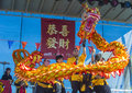 Las vegas chinese new year feb dragon dance performers during the celebrations held in nevada on february Royalty Free Stock Photography