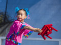 Las vegas chinese new year feb folk dancer perform at the celebrations held in nevada on february Stock Image
