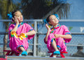 Las vegas chinese new year feb folk dancers perform at the celebrations held in nevada on february Royalty Free Stock Photos