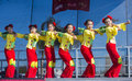 Las vegas chinese new year feb folk dancers perform at the celebrations held in nevada on february Stock Image
